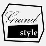 Logo astratto nel nero Fotografia Stock