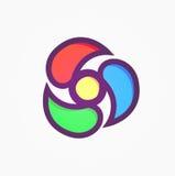 Logo astratto nella forma di turbinio per altezza Tech Company Immagine Stock