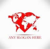 Logo au coeur du monde Photos libres de droits
