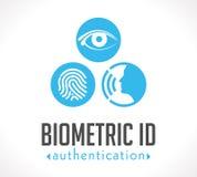 Logo - autenticazione biometrica di identificazione illustrazione di stock