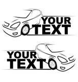 Logo automatique de courses d'automobiles Photos libres de droits