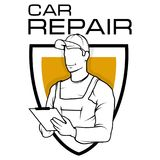 Logo automatique de service Atelier de réparations de l'AR de ¡ de Ð illustration stock
