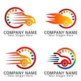 Logo automobilistico di concetto dell'automobile Fotografia Stock