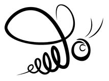 Logo av biet stock illustrationer