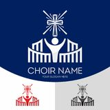 Logo av den kyrkliga kören Folket sjunger tillsammans royaltyfri illustrationer
