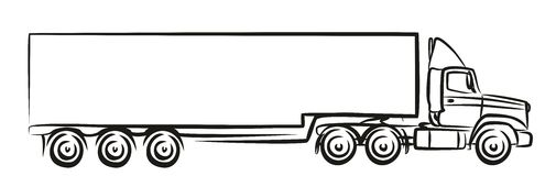 Logo av den stora lastbilen Arkivbild