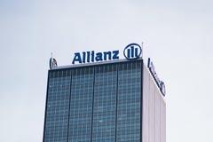 Logo av den tyska finansiell och försäkringgruppen Allianz Royaltyfri Foto