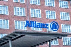Logo av den tyska finansiell och försäkringgruppen Allianz Royaltyfri Fotografi