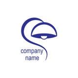Logo av företaget för försäljningen eller produktionen av lampor, enkelt monophonic, vektor royaltyfri illustrationer