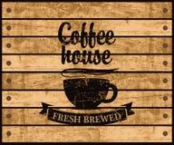 Logo av kaffehuset Arkivfoton