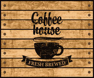 Logo av kaffehuset vektor illustrationer