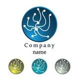 Logo av molekylstrukturen Dna-symbol Royaltyfri Fotografi