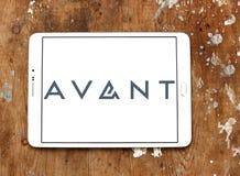 Avant lending company logo. Logo of avant lending company on samsung tablet stock image