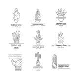 Logo avec des cactus Images libres de droits