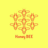 Logo avec l'insecte Abeille d'insigne pour l'identité d'entreprise Photos libres de droits