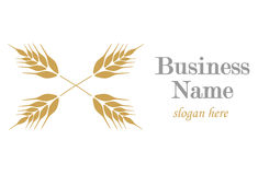 Logo avec l'oreille du blé illustration stock