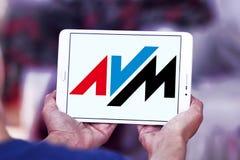 AVM electronics company logo stock photography