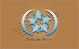 Logo - Błękitne gwiazdy Obrazy Stock
