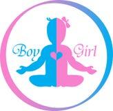 Logo Baby Boy y muchacha Imagen de archivo libre de regalías