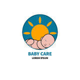 Logo baby care Stock Images