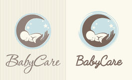 Logo of baby care, motherhood and childbearing Stock Images