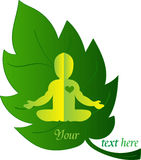 Logo Baby Health. Baby Yoga Royalty Free Stock Image