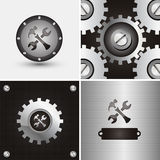 Logo and background Royalty Free Stock Images