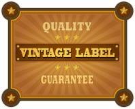 Logo Badge de style rétro Photographie stock