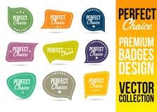 Logo Badge Emblem Choice perfetto Fotografia Stock