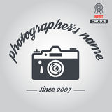 Logo, badge, emblem or label for photograph Stock Images