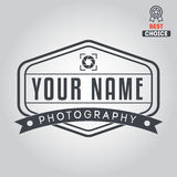 Logo, badge, emblem or label for photograph Royalty Free Stock Photos