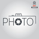 Logo, badge, emblem or label for photograph Stock Photography