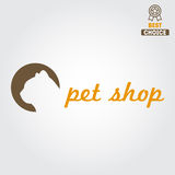 Logo, badge or label for pet shop or veterinary Stock Photos