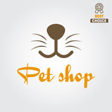 Logo, badge or label for pet shop or veterinary Royalty Free Stock Photos