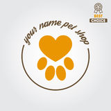 Logo, badge or label for pet shop or veterinary Stock Photography
