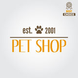 Logo, badge or label for pet shop or veterinary Stock Photo