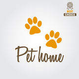 Logo, badge or label for pet shop or veterinary Royalty Free Stock Photography