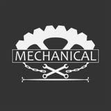 Logo Badge Mechanical Modern Vintage-Stijl stock illustratie