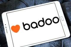 Badoo social network logo. Logo of Badoo social network on samsung tablet. Badoo is a dating focused social network Royalty Free Stock Image