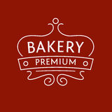 Logo for the bakery on red-brown background. The Royalty Free Stock Images