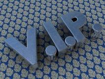 Logo balayé en métal VIP photographie stock libre de droits