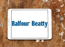 Balfour Beatty company logo. Logo of Balfour Beatty company on samsung tablet. Balfour Beatty plc is an English multinational infrastructure group with Royalty Free Stock Images