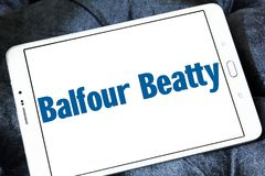 Balfour Beatty company logo. Logo of Balfour Beatty company on samsung tablet. Balfour Beatty plc is an English multinational infrastructure group with Royalty Free Stock Photos