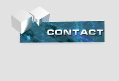Logo banner contact royalty free stock photo