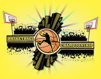 Logo basketball championship Stock Photography