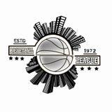 Logo basketball league Royalty Free Stock Photo
