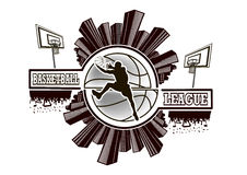Logo basketball league Royalty Free Stock Images