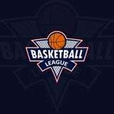 Logo for a basketball team or a league Royalty Free Stock Images