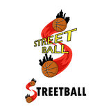 Logo for a basketball team Stock Images