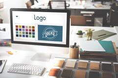 Logo Be Creative Inspiration Design begrepp arkivfoton
